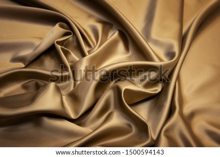 Brown viscose fabric texture. Background, pattern. #1500594143