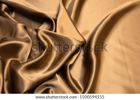 Brown viscose fabric texture. Background, pattern. #1500594155
