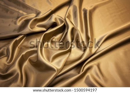 Brown viscose fabric texture. Background, pattern. #1500594197