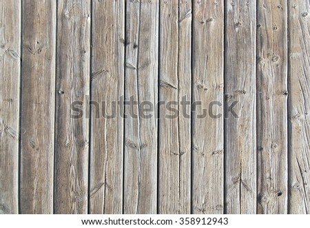 Brown weathered boardwalk planks background in Mallorca Balearic islands, Spain