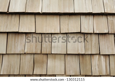brown wood roof shingles