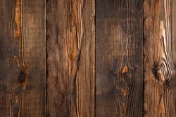 Brown wood texture background. Top view.