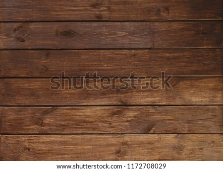 brown wooden plank desk table background texture top view #1172708029