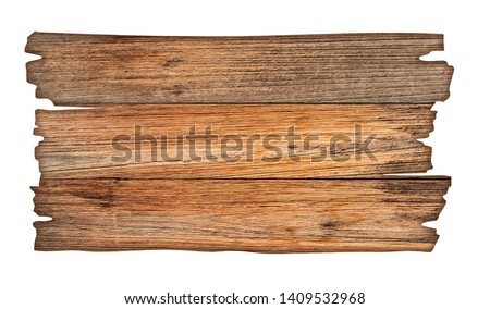 Brown wooden sign on a white background In the concept of the signpost and billboards with clipping path.