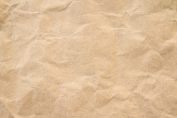 Brown wrinkle recycle paper background