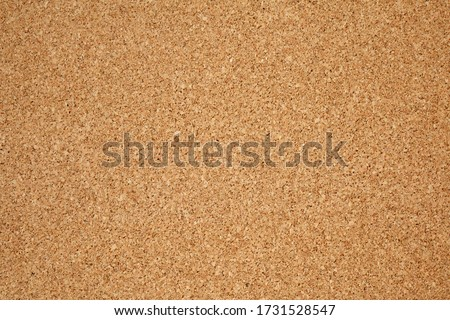 Brown / yellow color of cork board. Textured wooden background. Cork board with copy space. Notice board or bulletin board image.  Foto d'archivio ©