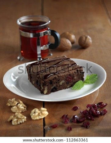 brownie with walnut
