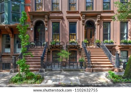 Brownstone building in Brooklyn Heights, Brooklyn, New York City #1102632755