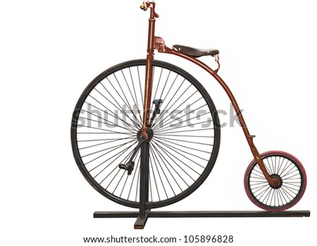 brownvintage bicycle with...