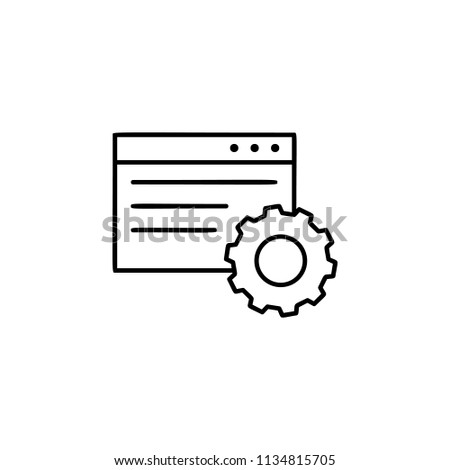 browser setup icon. Element of automation icon for mobile concept and web apps. Thin line browser setup icon can be used for web and mobile. Premium icon on white background