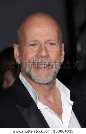 """Bruce Willis at the """"G.I. Joe: Retaliation"""" Los Angeles Premiere, Chinese Theater, Hollywood, CA 03-28-13"""