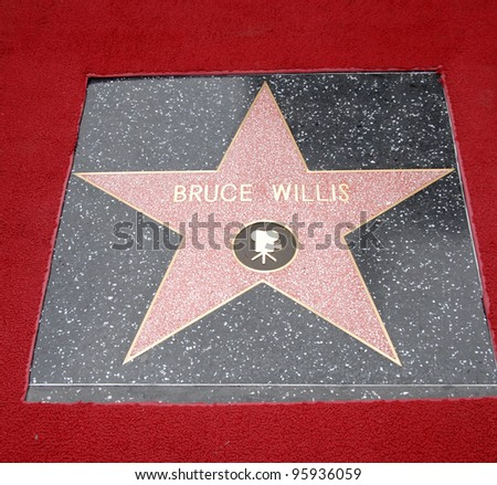 BRUCE WILLIS' star on Hollywood Boulevard where he was honored with the 2,321st star on the Hollywood Walk of Fame. October 16, 2006  Los Angeles, CA Picture: Paul Smith / Featureflash