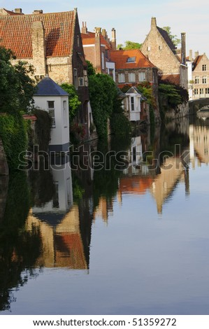 Bruges Canal reflection