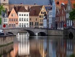 Bruges city river