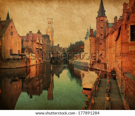 bruges historic centreat the...