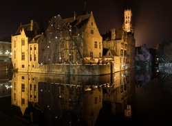 Bruges medieval historic city and canals