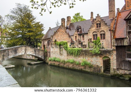 brugge brugges canal and city...
