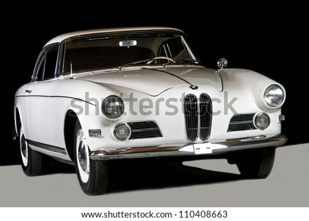 "BRUMMEN, THE NETHERLANDS - AUGUST 22: Vintage BMW 503 Coupe at ""The Gallery Brummen"" on August 22, 2006 in Brummen The Netherlands"