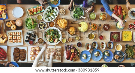 Brunch Choice Crowd Dining Food Options Eating Concept