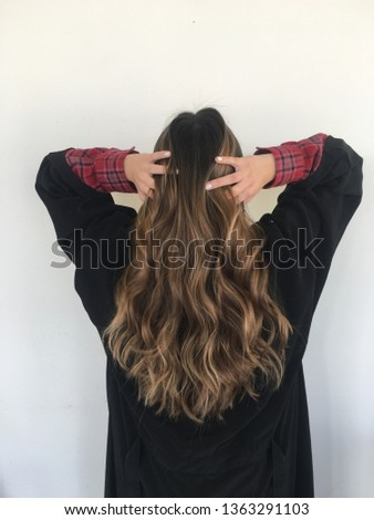 Brunette Balayage Hair #1363291103