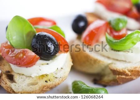 bruschetta closeup