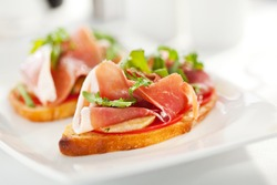 Bruschetta with Parma Ham and Parmesan Cheese