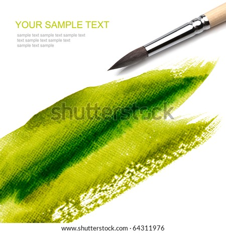 brush and paint green scratch