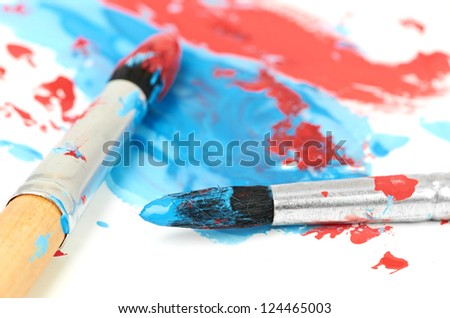 brush and paint scratch isolated on white background