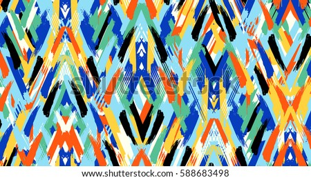 Brush effect ethnic pattern