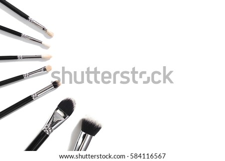 brush for makeup, eye shadow, view from above  #584116567
