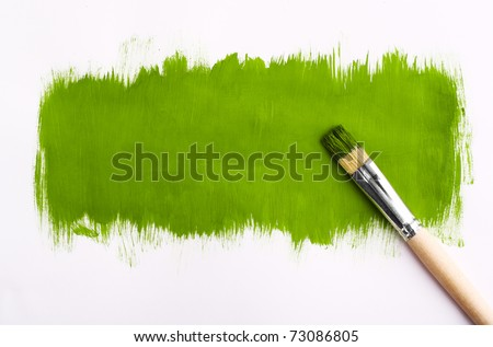 Brush for paint. On gray background. designer
