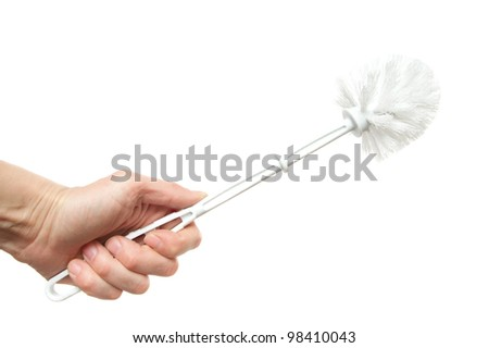 brush for toilet bowl cleaning, it is isolated on the white