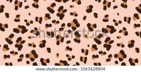 brush leopard pattern