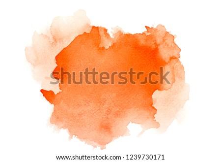 brush orange watercolor.space image