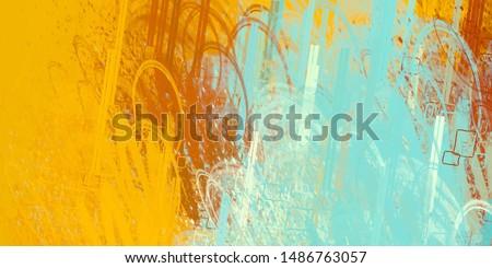 Brush painting. Artistic canvas mix form. Oil art matrix. 2d illustration. Texture backdrop. Creative chaos structure element material creation bitmap figures. Acrylic vivid.