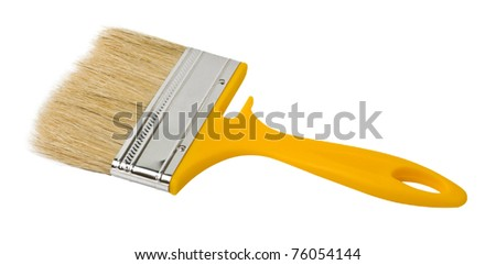 brush painting isolated on a white background