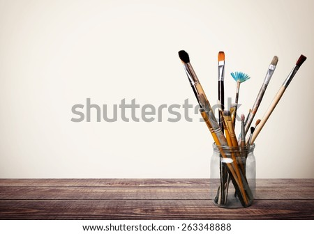 Brush. Paints and brushes