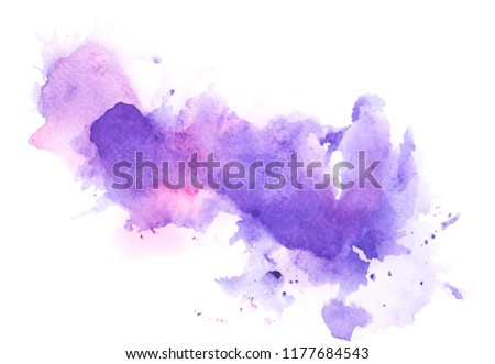 brush purple watercolor.color shades space image