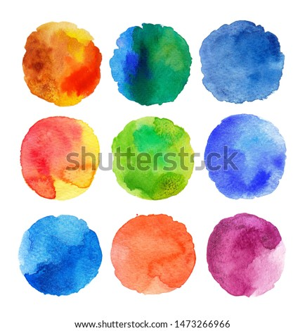 Brush strokes watercolor paintings abstract illustrated on white background.