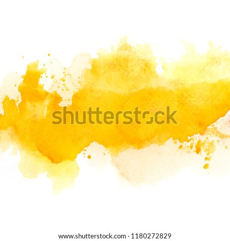brush yellow watercolor.color shades space image