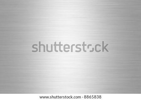 Brushed Aluminium Silver Shiny Plate