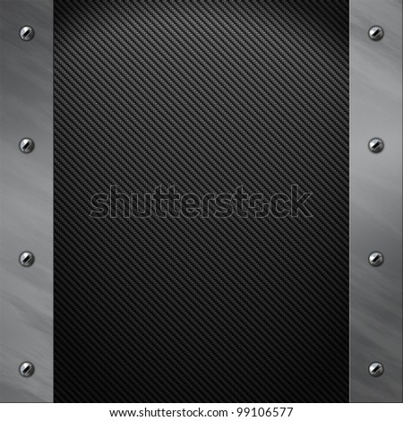 Brushed aluminum frame bolted to a grey real carbon fiber background