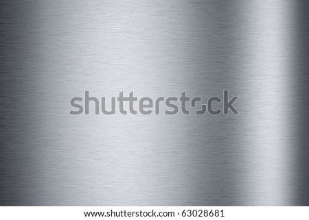 Brushed aluminum metallic plate useful for backgrounds