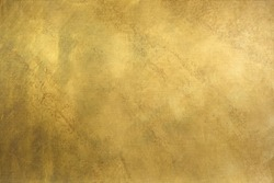 Brushed brass plate background texture