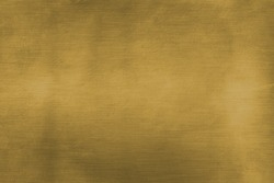 Brushed brass plate, gold colored metal sheet