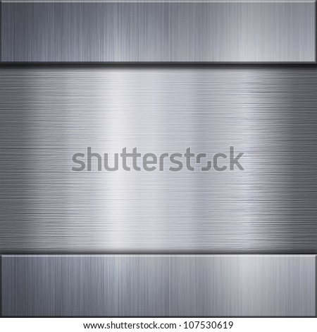 Brushed metal aluminum connected with steel background or texture