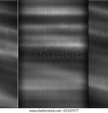 Brushed metal part of a wall. Industrial background