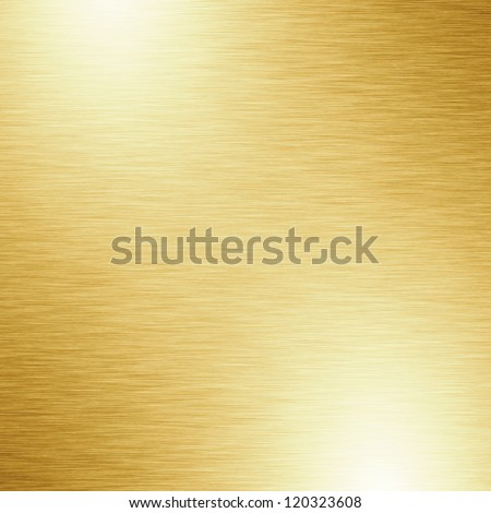 Brushed metal plate with reflected light