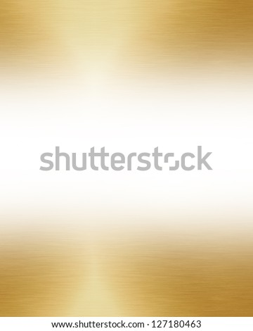 Brushed metal plate with reflected light on it - stock photo