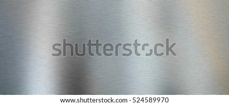 Brushed Metal texture background in silver close up